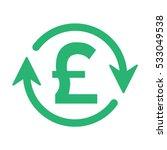 pounds money turnover   vector...   Shutterstock .eps vector #533049538