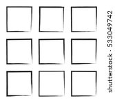 set hand drawn square  photo ... | Shutterstock .eps vector #533049742