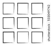 Set Hand Drawn Square Frame....