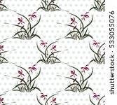 seamless floral pattern ... | Shutterstock . vector #533055076