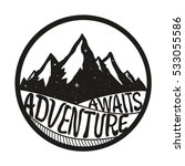 adventure awaits. lettering... | Shutterstock .eps vector #533055586