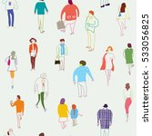 people and crowd seamless ... | Shutterstock .eps vector #533056825