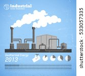 industrial plant template with... | Shutterstock .eps vector #533057335