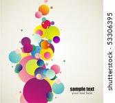 decorative colorful circles | Shutterstock .eps vector #53306395
