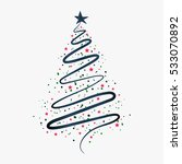 christmas background with... | Shutterstock .eps vector #533070892
