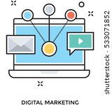 digital marketing vector icon | Shutterstock .eps vector #533071852