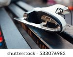 close up of ice skate on a... | Shutterstock . vector #533076982