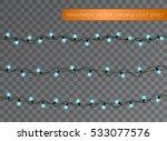 blue garland set  christmas... | Shutterstock .eps vector #533077576