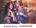 beautiful couple dating in cafe ... | Shutterstock . vector #533090308