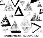 grunge geometry triangle shapes.... | Shutterstock .eps vector #533093722