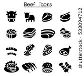 meat   beef icon set | Shutterstock .eps vector #533094712