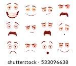 cartoon facial expressions set... | Shutterstock .eps vector #533096638