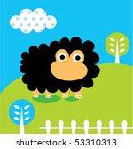 happy sheep garden | Shutterstock .eps vector #53310313