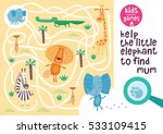 funny maze for children. help... | Shutterstock .eps vector #533109415