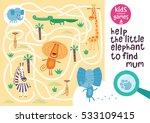 funny maze for children. help... | Shutterstock .eps vector #533109415