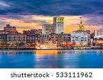 savannah  georgia  usa skyline... | Shutterstock . vector #533111962