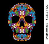day of the dead psychedelic... | Shutterstock .eps vector #533114422