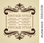 raster luxury vintage for design | Shutterstock . vector #53311528