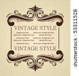 raster luxury vintage for design   Shutterstock . vector #53311528