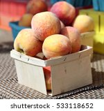 a lot of peach at the market... | Shutterstock . vector #533118652