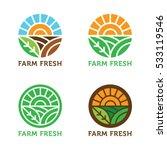 circular vector logo. sun rays... | Shutterstock .eps vector #533119546