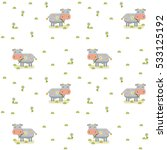 pattern cow background domestic ... | Shutterstock .eps vector #533125192