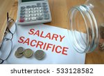 salary sacrifice with coins on... | Shutterstock . vector #533128582
