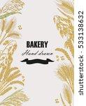 bread design template. vector... | Shutterstock .eps vector #533138632