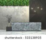 interior with a reception desk... | Shutterstock . vector #533138935