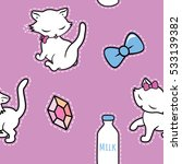 seamless pattern with cute... | Shutterstock .eps vector #533139382