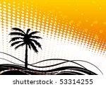 vector palm tree | Shutterstock .eps vector #53314255