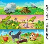 cartoon animals three...   Shutterstock .eps vector #533143825