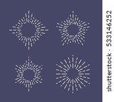 set of vintage sunbursts in... | Shutterstock .eps vector #533146252