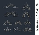 set of vintage sunbursts in... | Shutterstock .eps vector #533146288