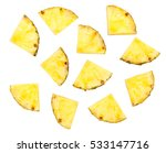 Sliced Pineapple Isolated