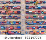 container container ship in... | Shutterstock . vector #533147776
