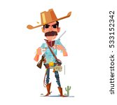 Cowboy Character With Coffee  ...