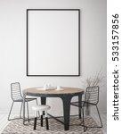 mock up poster frame in hipster ... | Shutterstock . vector #533157856