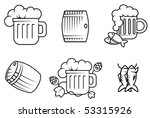set of beer and alcohol symbols ... | Shutterstock .eps vector #53315926
