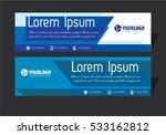 creative horizontal banner... | Shutterstock .eps vector #533162812