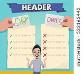 do and don't with character... | Shutterstock .eps vector #533163442