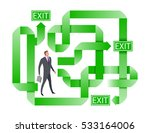 businessman searching for the... | Shutterstock .eps vector #533164006
