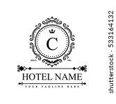 luxury logo template in vector... | Shutterstock .eps vector #533164132