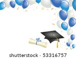 graduation celebration with... | Shutterstock .eps vector #53316757