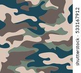 camouflage pattern background.... | Shutterstock .eps vector #533167912