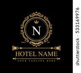 luxury logo template in vector... | Shutterstock .eps vector #533169976