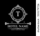 luxury logo template in vector... | Shutterstock .eps vector #533179726