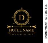 luxury logo template in vector... | Shutterstock .eps vector #533183116