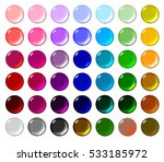 set of 42 round candy glossy...   Shutterstock . vector #533185972