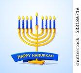 happy hanukkah  greeting card...   Shutterstock .eps vector #533186716